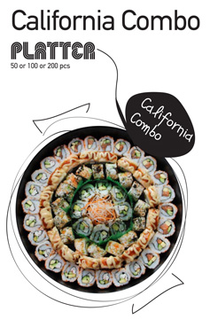 Sushi La Bar and Grill Restaurant in Cyprus - California Combo Party Platter