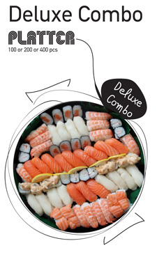Sushi La Bar and Grill Restaurant in Cyprus - Deluxe Combo Party Platter