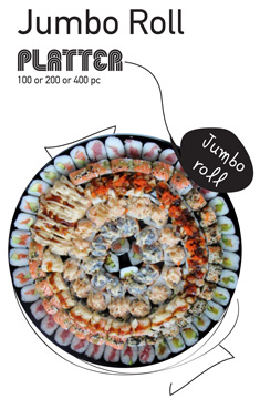 Sushi La Bar and Grill Restaurant in Cyprus - Jumbo Roll Party Platter