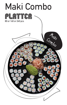 Sushi La Bar and Grill Restaurant in Cyprus - Maki Combo Party Platter