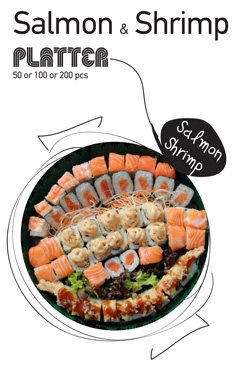 Sushi La Bar and Grill Restaurant in Cyprus - Salmon & Shrimp Party Platter