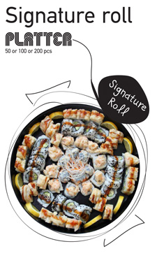 Sushi La Bar and Grill Restaurant in Cyprus - Signature Roll Party Platter