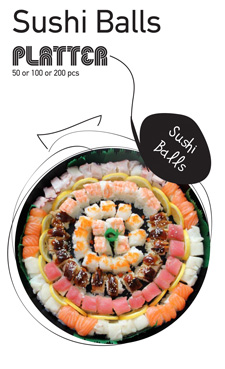 Sushi La Bar and Grill Restaurant in Cyprus - Sushi Balls Party Platter