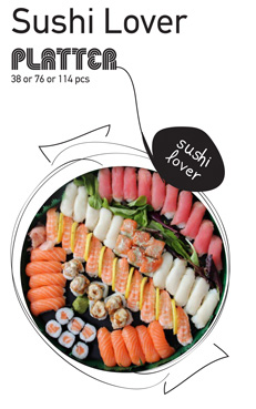 Sushi La Bar and Grill Restaurant in Cyprus - Sushi Lover Party Platter