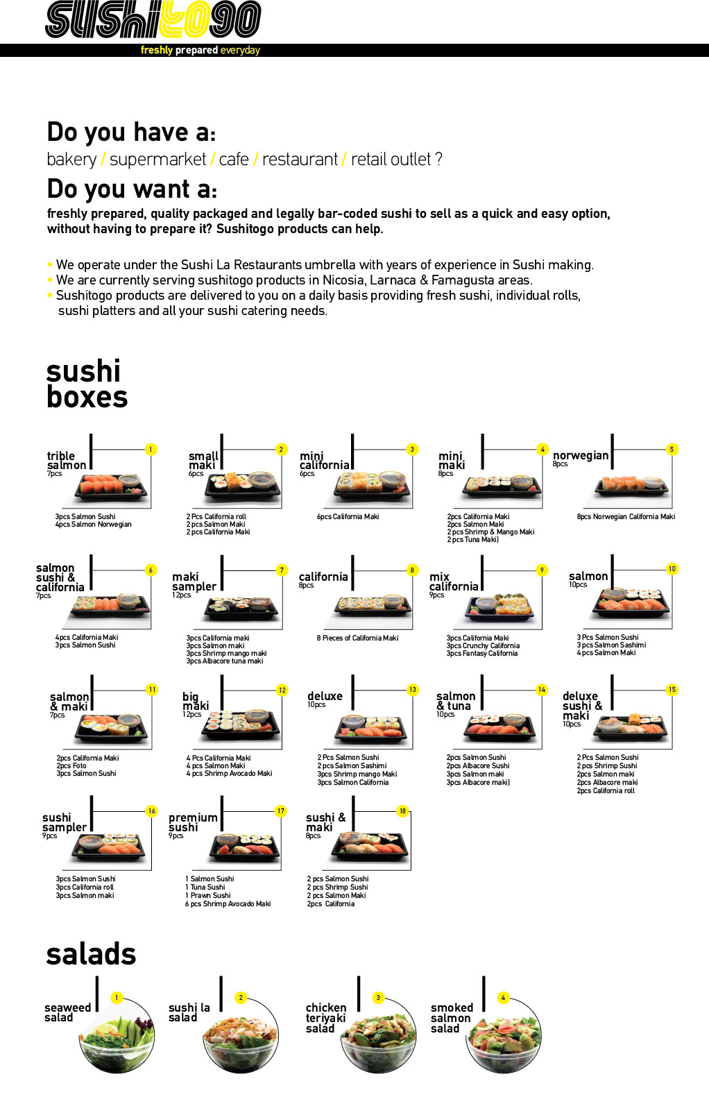 Sushi La Bar and Grill Restaurant in Cyprus - Sushi To Go