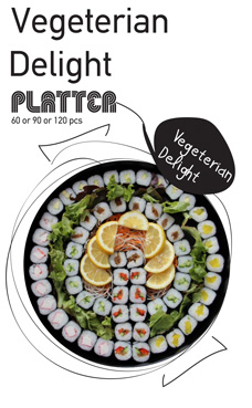Sushi La Bar and Grill Restaurant in Cyprus - Vegetarian Delight Party Platter